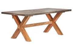 Стол обеденный Secret De Maison Калидо (Kalido) — серый/натуральный
