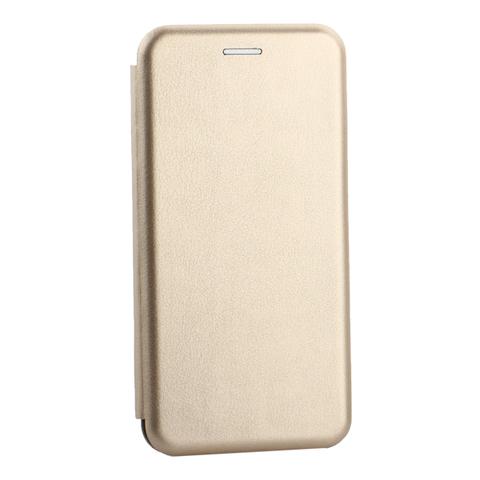 Чехол-книжка кожаный Innovation Case для Samsung Galaxy S10 Plus Золотой