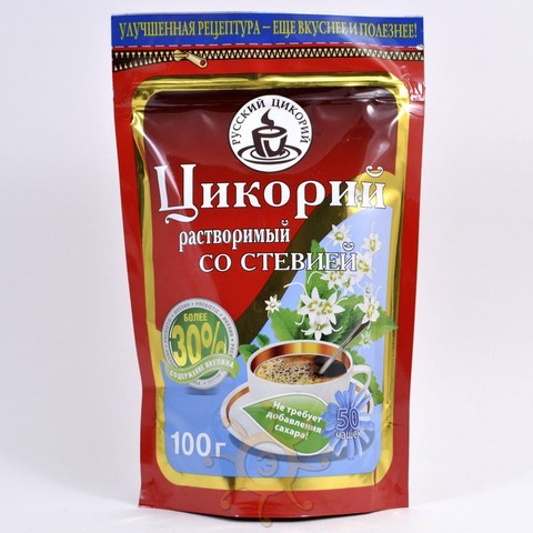 Цикорий растворимый со стевией Русский Цикорий, 100г