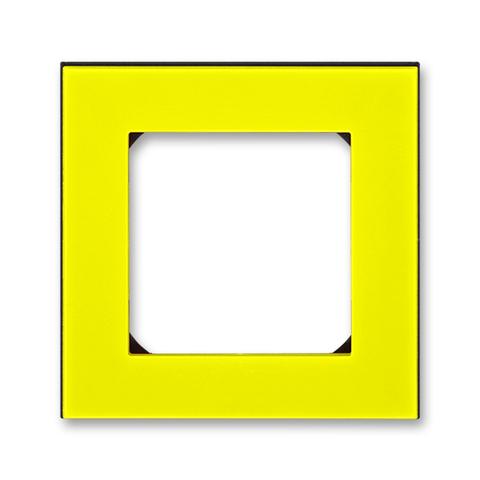 Рамка на 1 пост. Цвет Жёлтый / дымчатый чёрный. ABB. Levit(Левит). 2CHH015010A6064