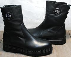 Зимние полусапоги женские купить G.U.E.R.O G019 8556 Black.