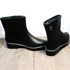 Резиновые сапоги матовые женские Hello Rain Story 1019 Black