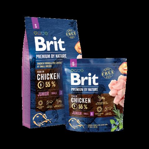 Brit Premium By Nature Junior S Сухой корм для молодых собак мелких пород
