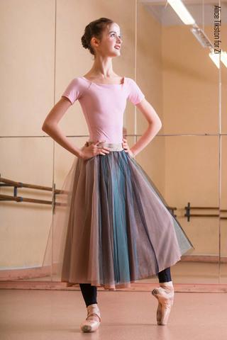Set: T-leotard + rehearsal tulle skirt buterbrot