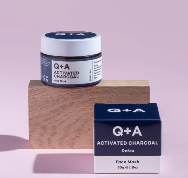 Q+A Activated Charcoal Detox Face Mask маска для лица 50г