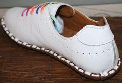 Модные женские туфли без каблука Evromoda 19604 White