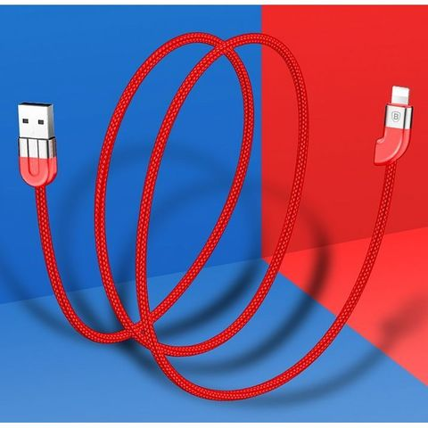 Кабель Baseus Couple Magnetic cable For IP (Two cable type)1M Blue+ Red