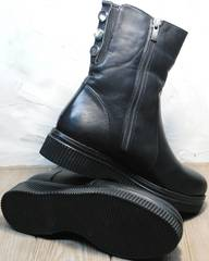 Купить зимние женские полусапожки G.U.E.R.O G019 8556 Black.