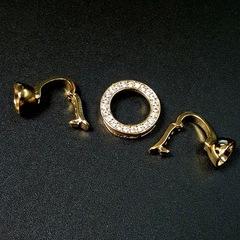 Замочек с цирконами 35 мм цвет золото