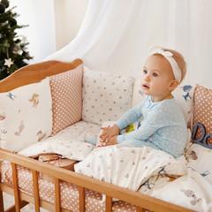 Комплект постельного белья для новорожденных с защитой-бортиками Верона Белочка