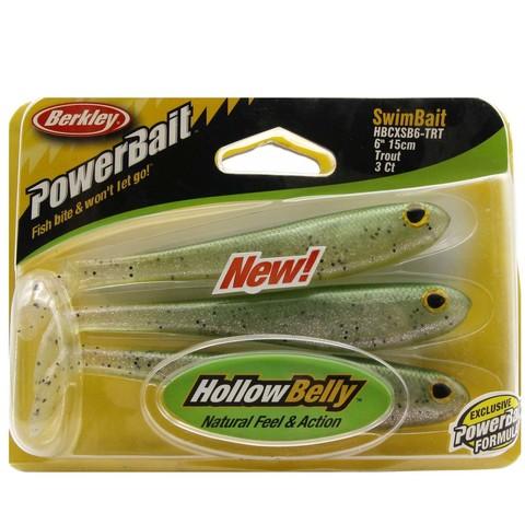 Приманка силиконовая Berkley Powerbait Hollow Belly Swim Baits HBCSB6-TRT Trout 6
