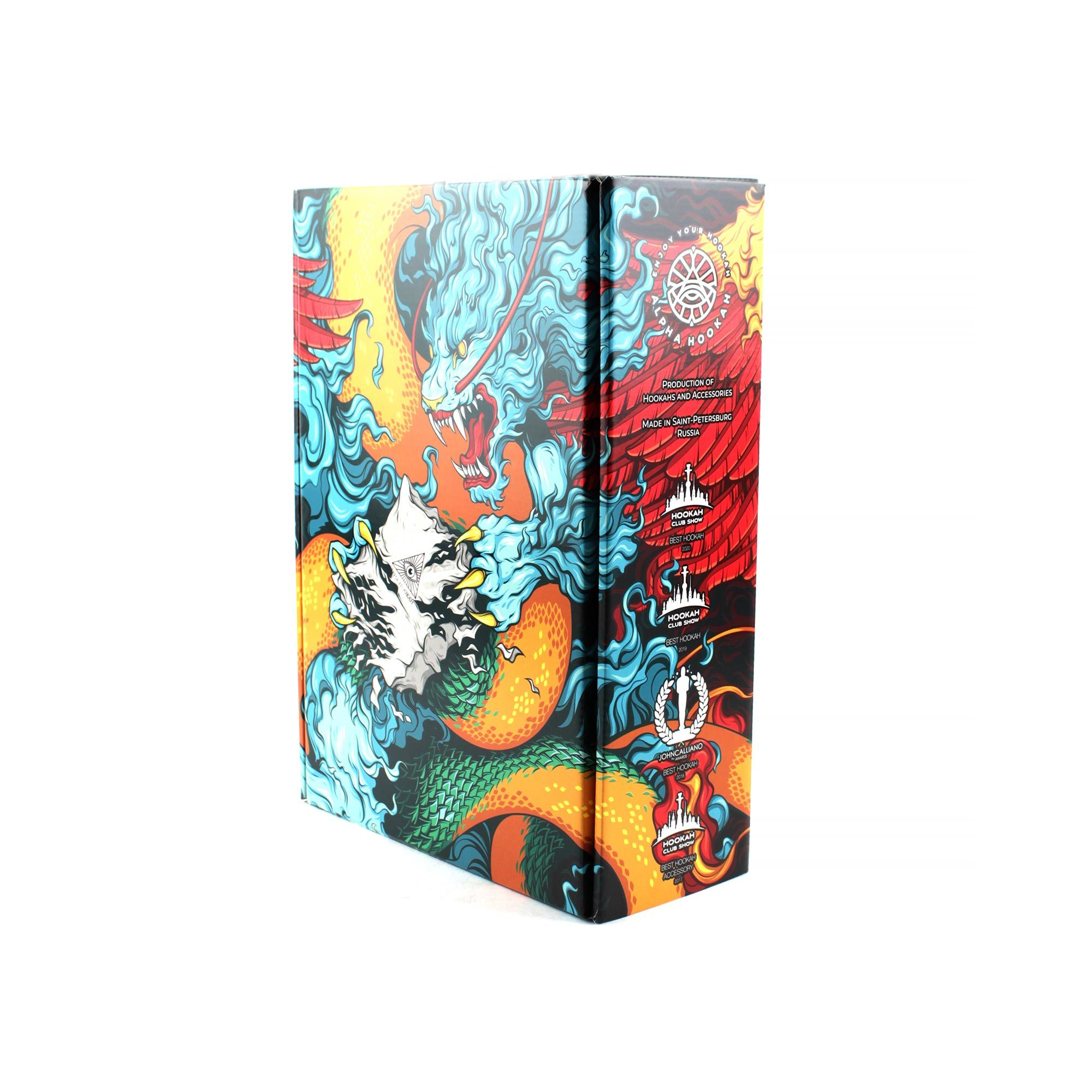 Фирменная коробка Alpha Hookah Model X Black Matte