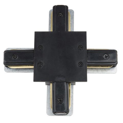 UBX-Q123 R41 BLACK 1 POLYBAG Соединитель для шинопроводов типа R, Х-образный. Однофазный. Черный. ТМ Vople