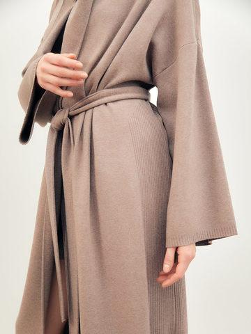 Женский кардиган темно-кофейного цвета из вискозы - фото 5