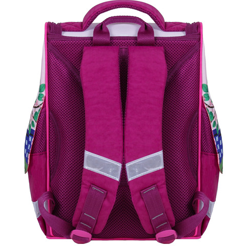Рюкзак школьный каркасный с фонариками Bagland Успех 12 л. малиновый 430 (00551703)