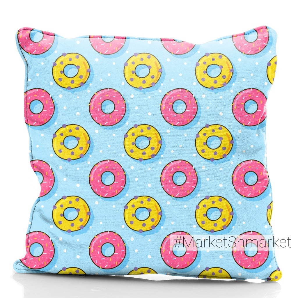 Сладкие пончики на голубом