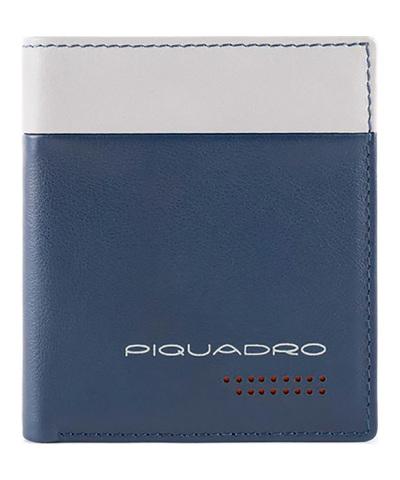Чехол для кредитных карт Piquadro Urban, синий, 8 отделений, 8,5x10x1,5 см
