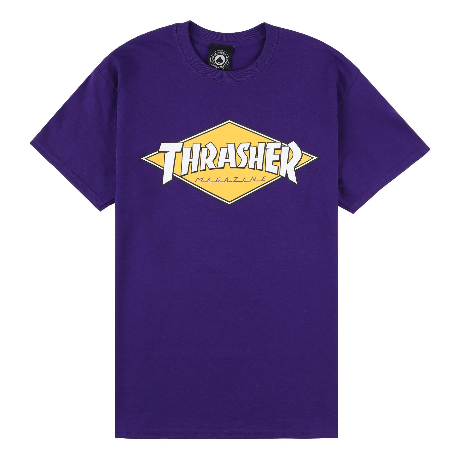 Футболка THRASHER Diamond Logo (Purple)
