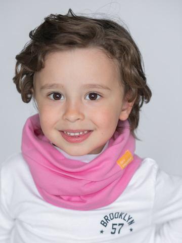 Детский снуд-горловинка из хлопка ягодно-розовый