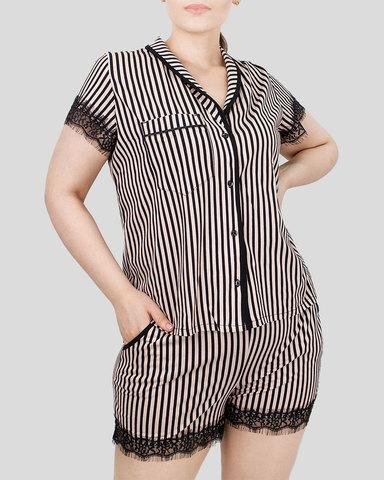 Комплект женский рубашка с шортами