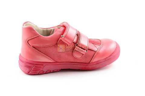 Ботинки Тотто из натуральной кожи на липучках демисезонные для девочек, цвет розовый. Изображение 4 из 12.