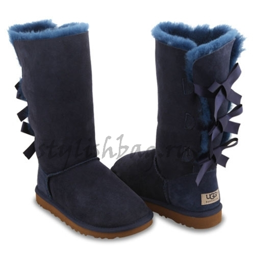 Женские угги UGG Bailey Bow Tall Navy
