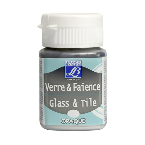 Краска по стеклу и керамике Lefranc&Bourgeois Glass&Tile 50 мл Непрозрачная 710, серебряный