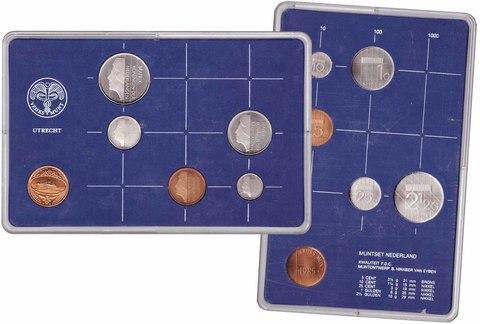 Набор монет Нидерландов 1985 UNC в пластиковой упаковке