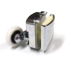 Ролик для душевых кабин M-02-B 23 мм латунная коретка два полиуретановых ролика, хромированна накладка.