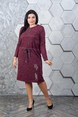 Марсія. Батальне плаття з ангори. Бордо
