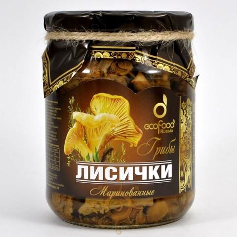 Грибы лисички маринованные Ecofood, 520г