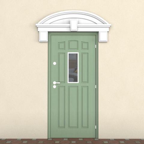 Сандрик из пенопласта для отделки двери снаружи.
