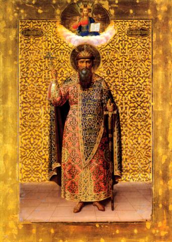 Икона святой Вячеслав Чешский на дереве на левкасе мастерская Иконный Дом