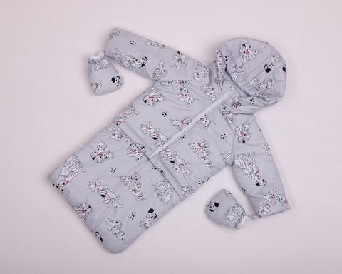 Демисезонный комбинезон тройка для малышей 0-2 года Look долматинцы