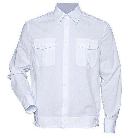 Рубашка белого цвета с длинным рукавом