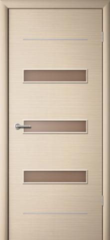 Дверь Фрегат ПО-М5 Трио, матовое, цвет беленый дуб, остекленная