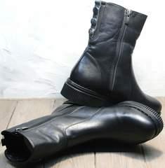 Купить полусапожки женские зимние кожаные G.U.E.R.O G019 8556 Black.