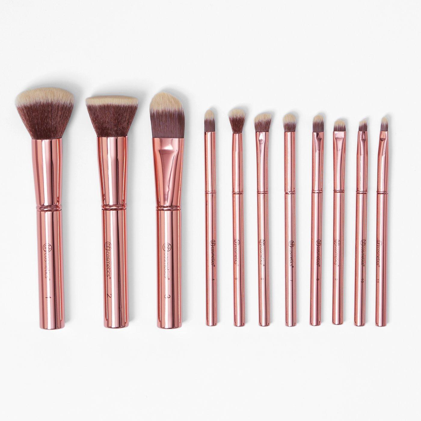 BH Cosmetics Metal Rose 11 Piece Brush Set