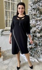 Оливия. Оригинальное нарядное женское платье. Черный