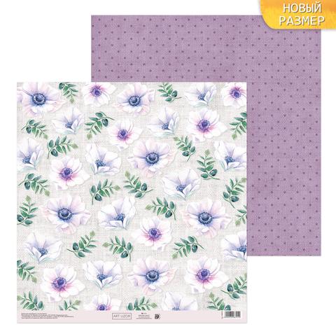 Бумага для скрапбукинга «Цветочная скатерть», 30.5 × 30.5 см, 180 г/м