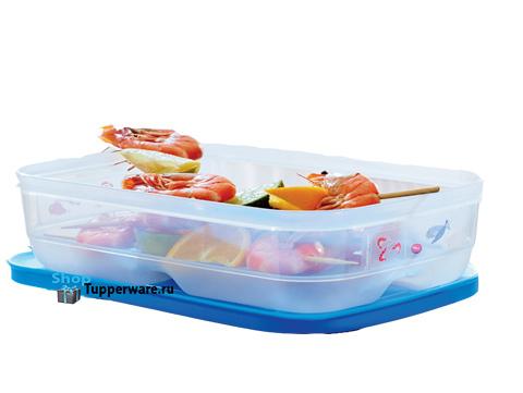 Контейнер Умный холодильник 1,8л низкий для мяса и рыбы