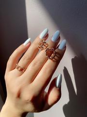 47947- Кольцо узкое из золочёного серебра в виде цепи в стиле APM MONACO