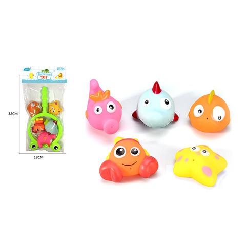 Игрушка для ванной, сачок с пищалками (5 шт., в пакете), УС652С