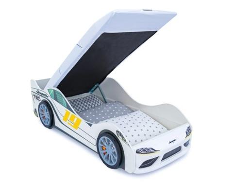Кровать-машинка СУПРА-3D с подъемным механизмом и подсветкой фар