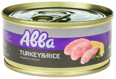 ABBA Premium консервы для собак мелких пород, с индейкой и рисом, 100 г