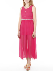 809 платье женское, розовое
