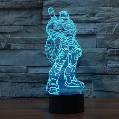 3D светильник с пультом Железный человек Воитель