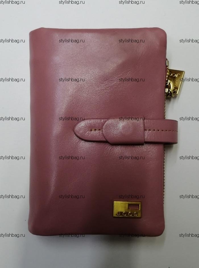 Небольшой розовый кошелек из кожи JCCS j-1029