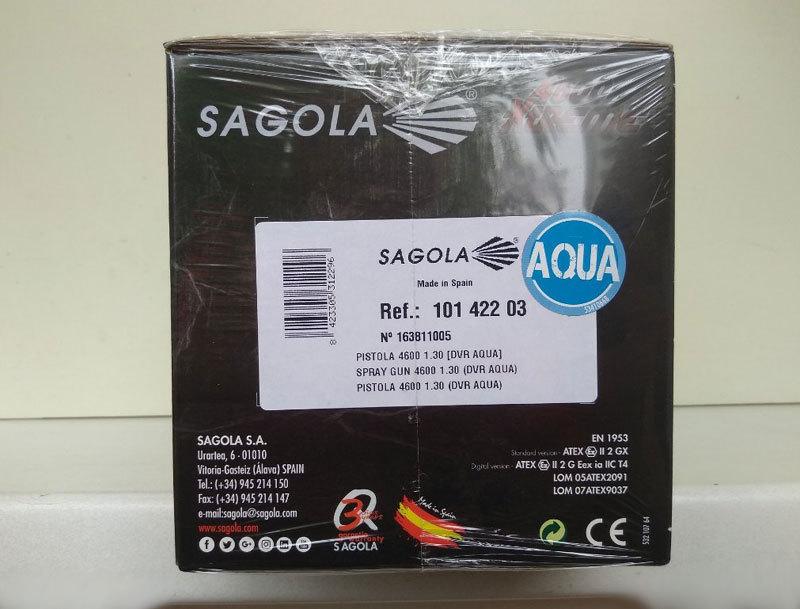 Краскопульт Sagola 4600 Xtreme с воздушной головкой AQUA, коробка