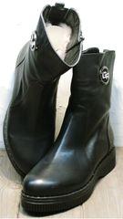 Купить женские зимние полусапожки в украине G.U.E.R.O G019 8556 Black.